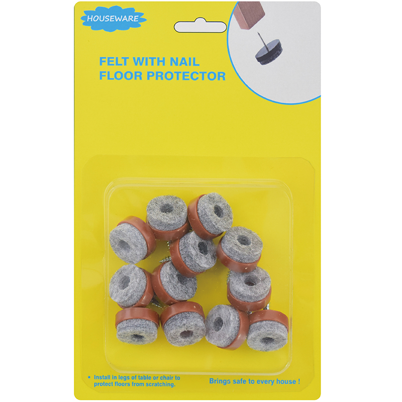 SH19.033  Felt Pad Nail Floor Protector For Office Chairs