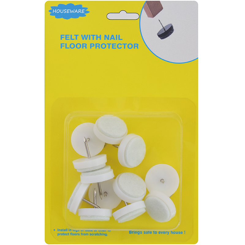 SH19.028  Hot Sale Felt Pad Nail Floor Glides For Chairs