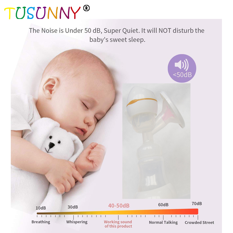 SH1.272 Baby Breast Milk Pump Feeding Bottle Silicone electric breast pump